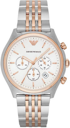 Emporio Armani Men's Chronograph Two-Tone Stainless Steel Bracelet Watch 43mm AR1998