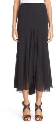 Women's Fuzzi Tulle Mesh Midi Skirt $335 thestylecure.com