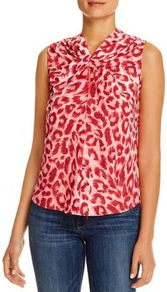 Kate Spade Sleeveless Leopard-Print Top