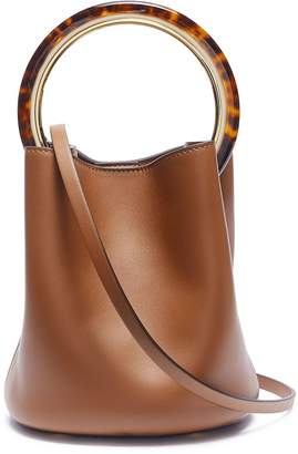 Marni 'Pannier' tortoiseshell ring handle leather crossbody bag