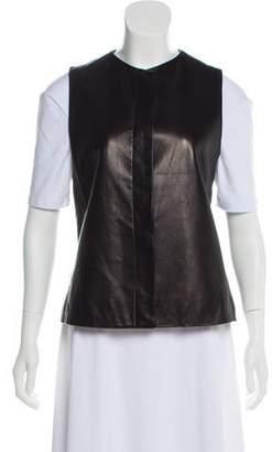The Row Leather Sleeveless Vest