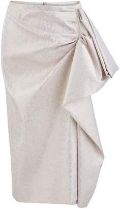 Dries Van Noten Metallic skirt