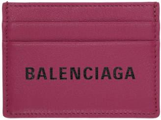 Balenciaga Pink Logo Everyday Card Holder