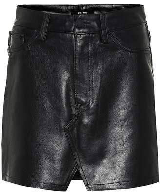 5fba1a06e0 GRLFRND Zamira leather miniskirt