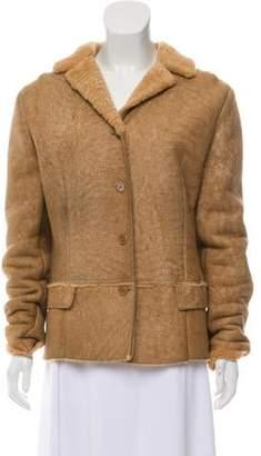 Shearling Notch-Lapel Jacket