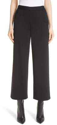 St. John Wide Leg Milano Knit Crop Pants