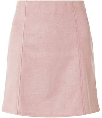 Dorothy Perkins Womens Pink Suede Panel Mini Skirt