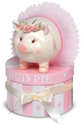 """Mud Pie Ballerina Kids Piggy - Money Bank - Hand-painted Ceramic - 5.5 x 6"""""""""""