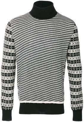 Maison Margiela jacquard knit turtleneck jumper