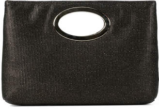 Donald J Pliner PANDORA, Perforated Lame Leather Clutch