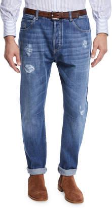 Brunello Cucinelli Men's Medium Wash Denim Jeans