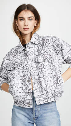 Alexander Wang Denim X Printed Game Jacket