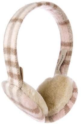Burberry Cashmere Check Earmuffs