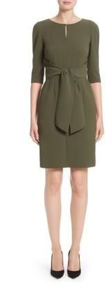 Women's Lafayette 148 Jolie Tie Waist Crepe Dress $598 thestylecure.com