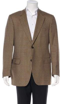 Dolce & Gabbana Houndstooth & Plaid Wool Blazer