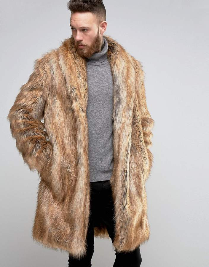 Faux Fur Coat Mens Long - Tradingbasis