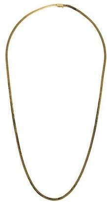 14K Long Herringbone Chain Necklace