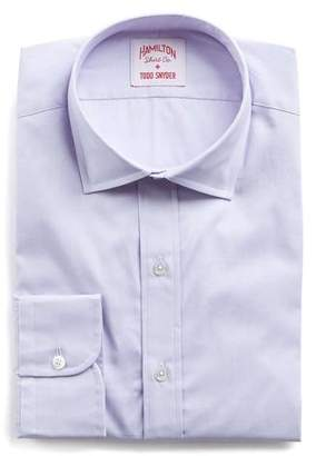Hamilton Lavender Solid Pinpoint Shirt