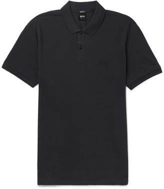 HUGO BOSS Pallas Cotton-pique Polo Shirt - Navy