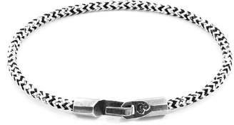 ANCHOR & CREW - White Noir Talbot Silver & Rope Bracelet