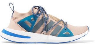 adidas Arkyn Rubber-trimmed Mesh Sneakers - Blush