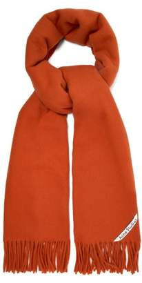 Acne Studios Canada Wool Scarf - Womens - Red