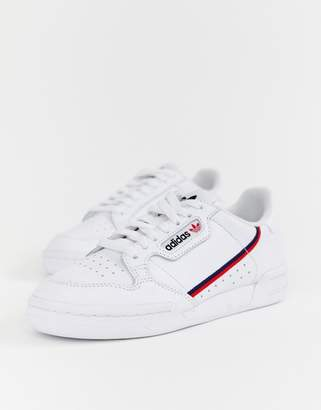 adidas white Continental 80 sneakers