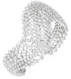 Adriana Orsini Leia Swarovski Crystal Wave Open Cuff Bracelet