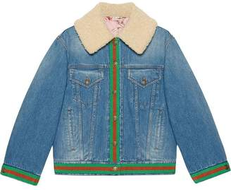 Gucci Denim jacket with shearling