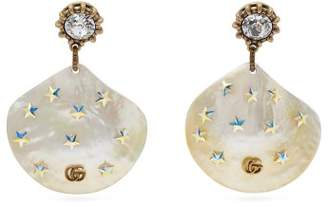 Gucci Gg Mother Of Pearl Drop Earrings - Womens - Pearl