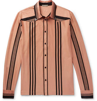 Bottega Veneta Striped Organic Cotton Shirt