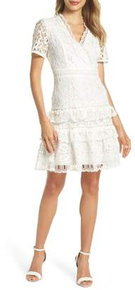 French Connection Arta Tiered Lace Dress