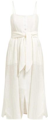 Dakota Belize Raw Cotton Dress - Womens - Ivory
