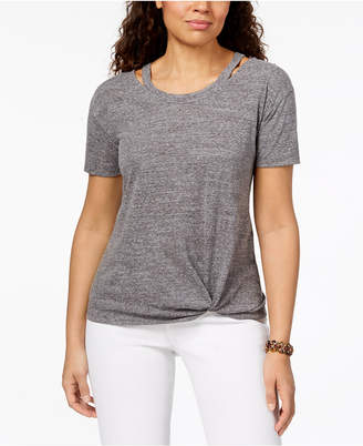 Style&Co. Style & Co Cutout High-Low T-Shirt, Created for Macy's