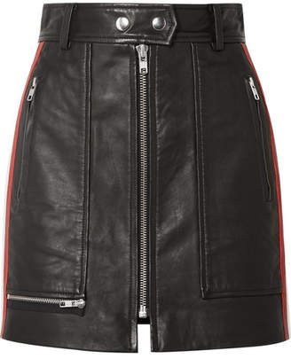 Etoile Isabel Marant Alynne Striped Leather Mini Skirt - Black