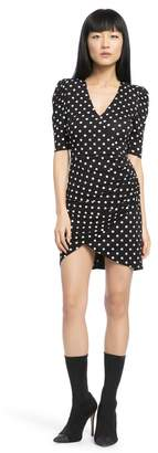 Alice + Olivia Judy Ruched Mini Dress