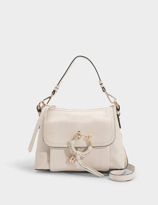 Joan Small Crossbody Bag in Nougat Grained Cowhide Leather and Suede Leather See By Chlo wP6JvM