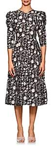 Ulla Johnson Women's Fontaine Floral Cotton-Silk Dress-Black