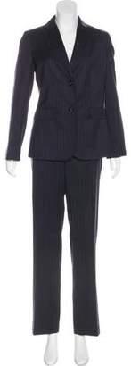Burberry Pinstripe Striaght-Leg Pantsuit