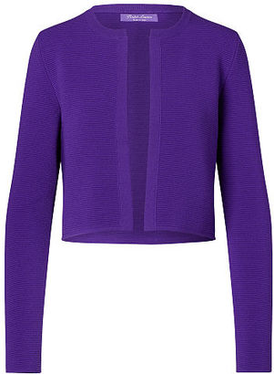Ralph Lauren Stretch Wool Cropped Cardigan $1,290 thestylecure.com