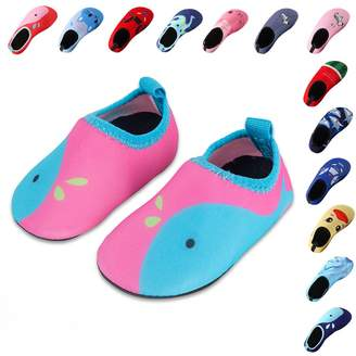 5d898ec72 Pool  Wodun Kids Swim Water Shoes Boys Girls Toddler Barefoot Aqua Sock  Shoes for Beach