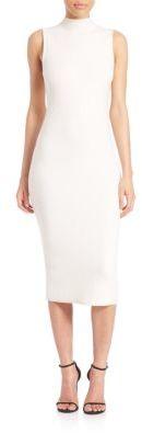 Alice and Olivia Hana Mockneck Midi Dress $350 thestylecure.com