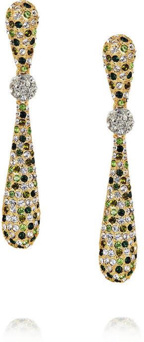 Kenneth Jay Lane Gold-plated Swarovski crystal drop earrings