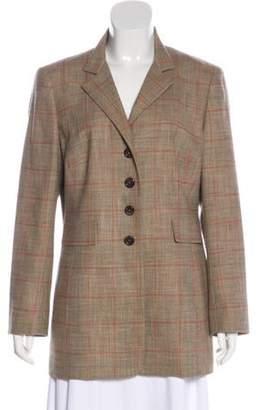 Akris Wool Short Coat Tan Wool Short Coat