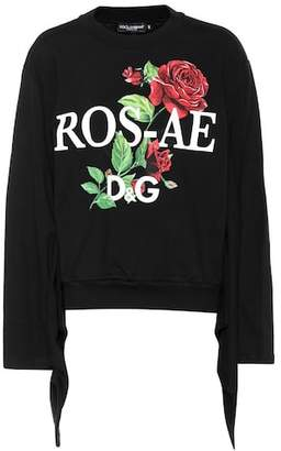 Dolce & Gabbana Printed cotton-jersey sweater