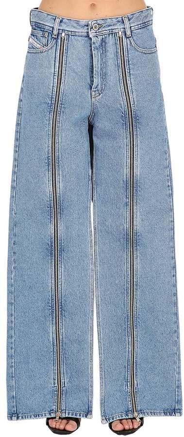 Shayne Oliver X Shayne Oliver Zip-Up Cotton Denim Jeans