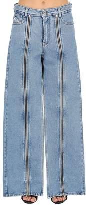 Shayne Oliver Zip-Up Cotton Denim Jeans