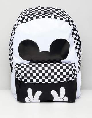 Vans X Disney checkerboard mickey realm backpack
