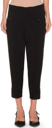 No.21 No. 21 Cropped Skinny-Leg Crepe Trousers
