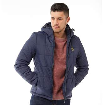 Luke 1977 Mens Southy Quilted Hooded Jacket Navy
